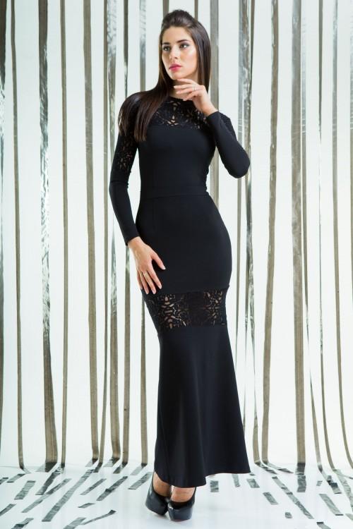 Платье 55-01 черный