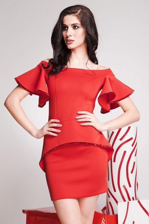 Платье 01-44 красный