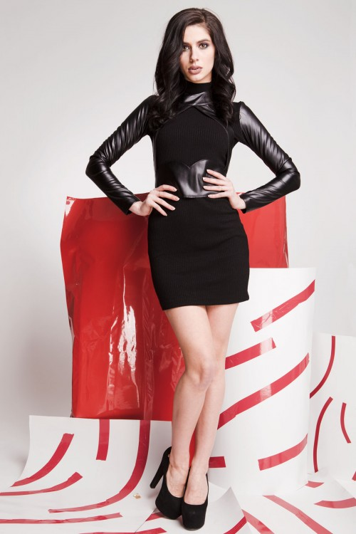 Платье 01-68 черный