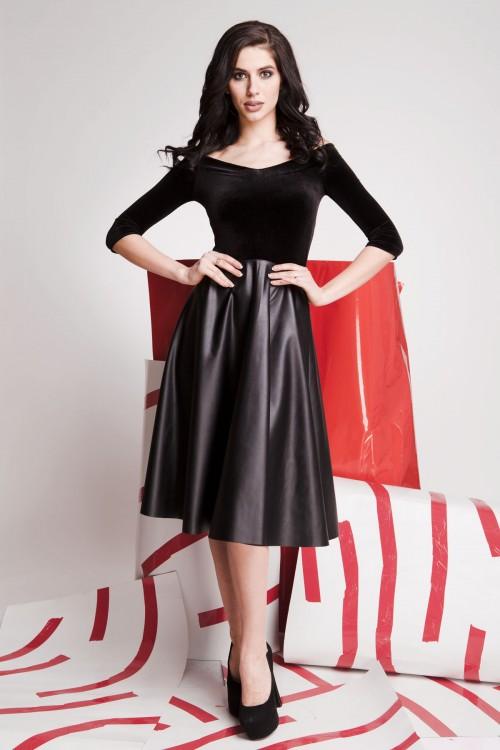 Платье 01-66 черный