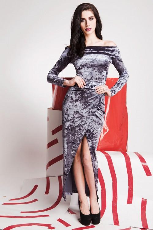 Платье 01-53 серый