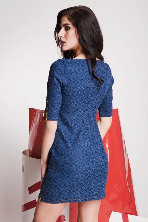 Платье 79-01 синий