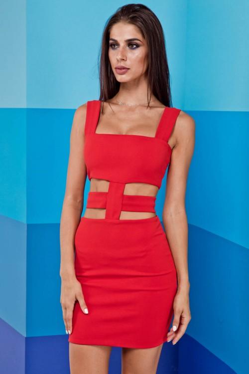Платье 01-92 красный