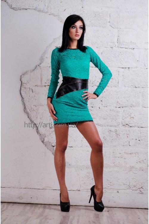 Платье 3185 бирюза