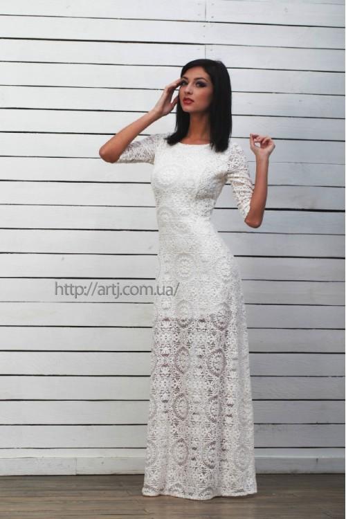 Платье 3214 молоко