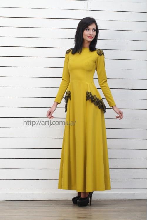 Платье 3221 горчица