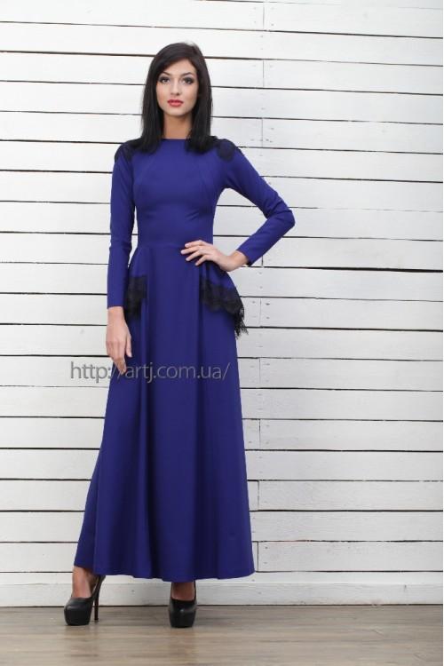 Платье 3221 синий