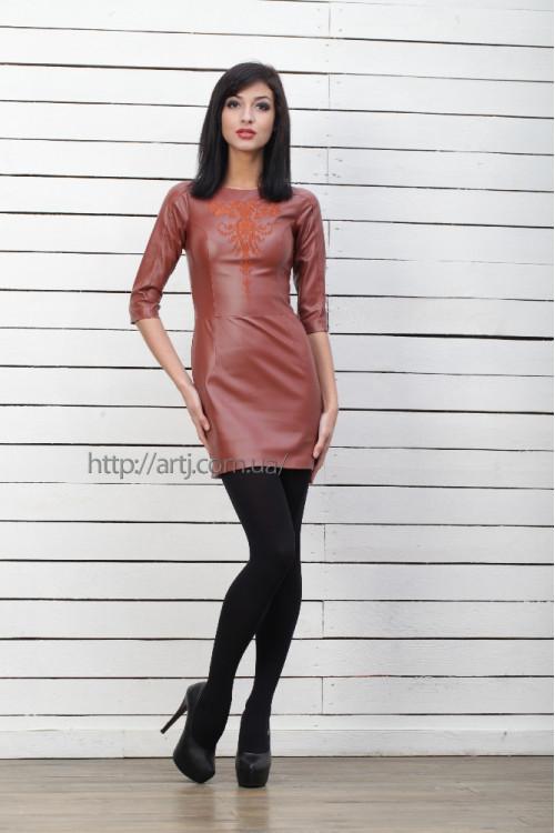 Платье 3218 коричневый