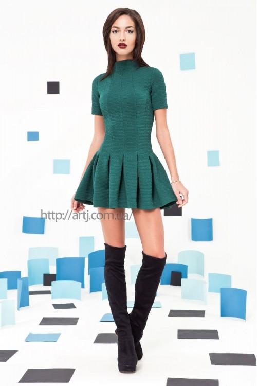 Платье 3262 бутылочный