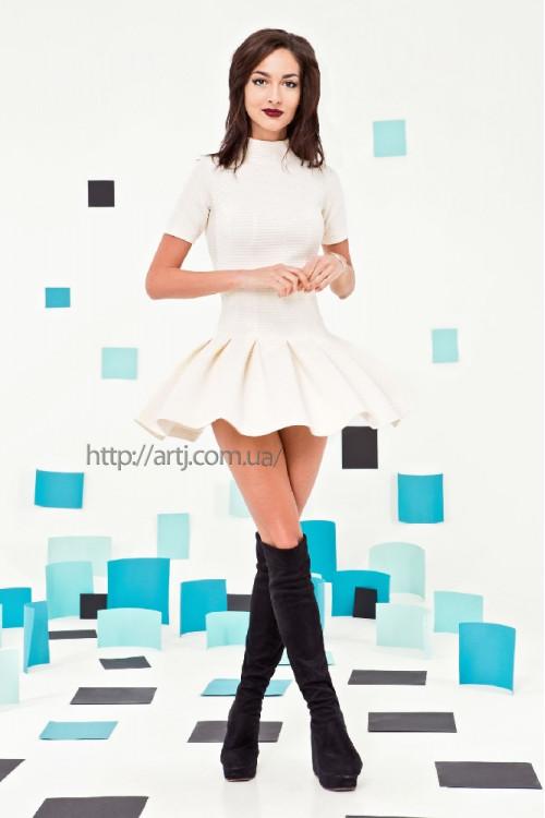 Платье 3262 молоко