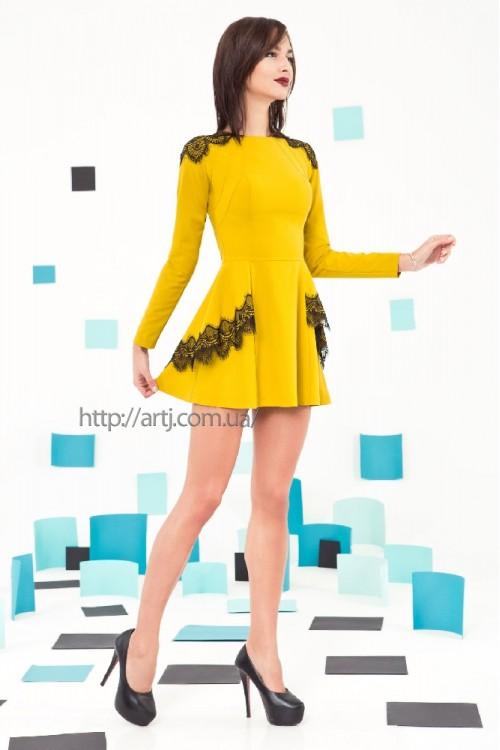 Платье 3222 горчица