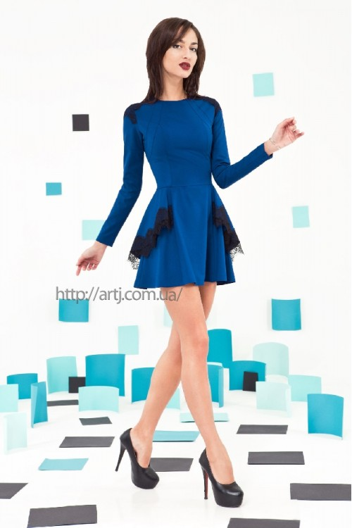 Платье 3222 синий