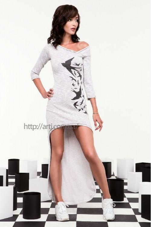 Платье 24-46 серое