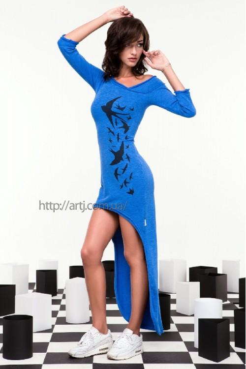 Платье 24-46 синее