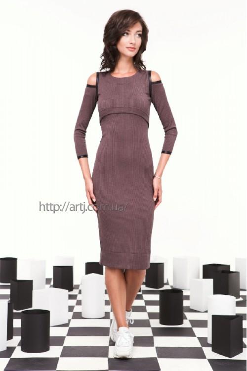 Платье 28-00 баклажан