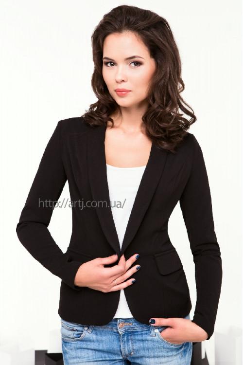 Пиджак 2071 шаль черный
