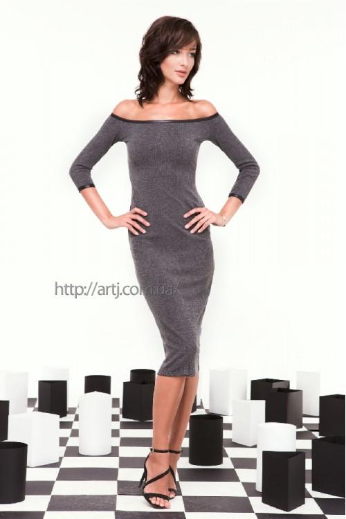 Платье 28-00 серый