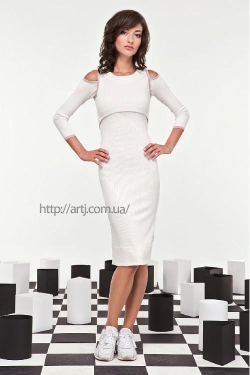 Платье 28-00 молоко