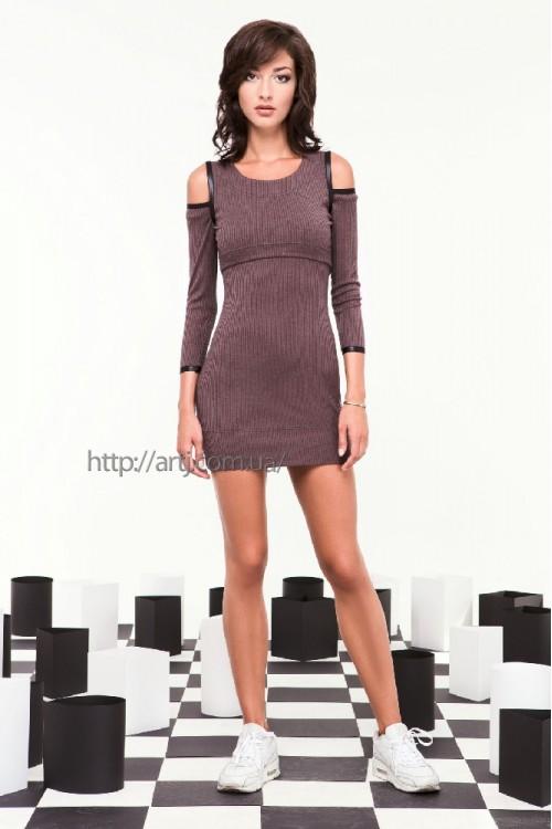 Платье 29-00 баклажан