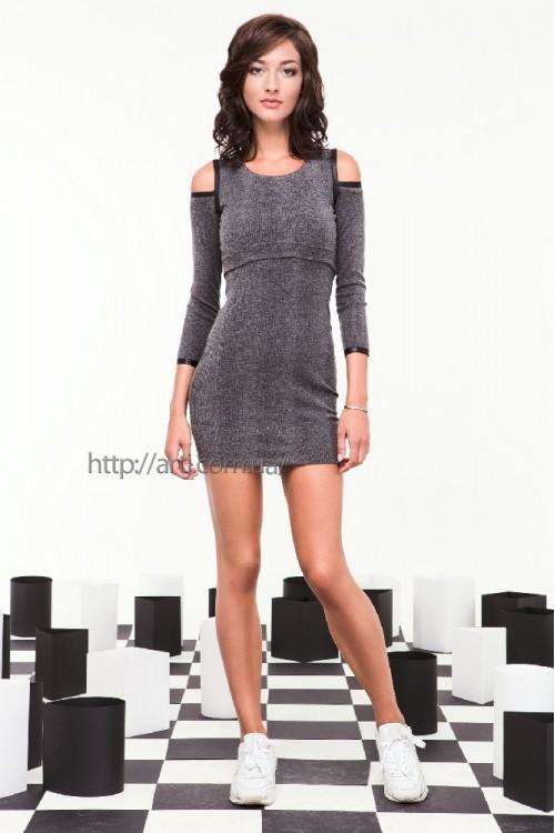 Платье 29-00 серый