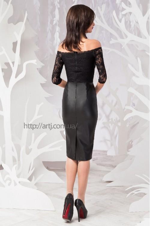 Платье 50-01 черный
