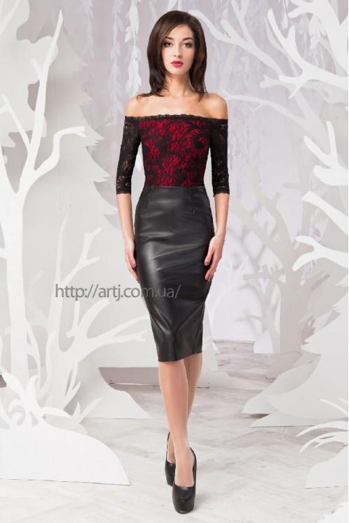 Платье 50-01 коралл
