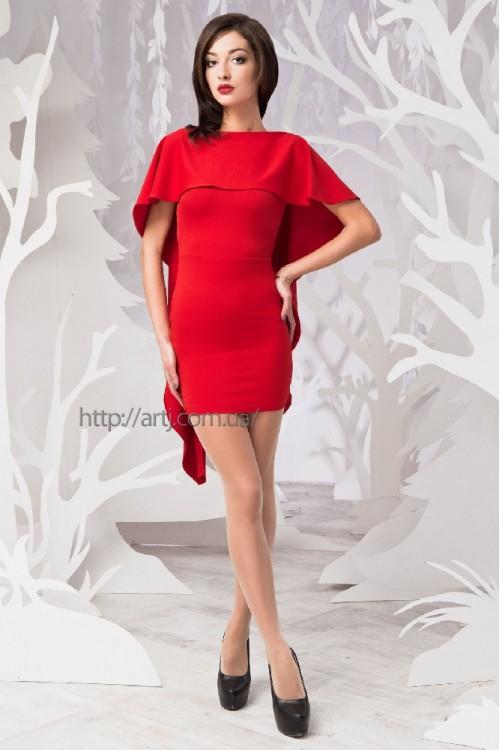 Платье 51-01 красное