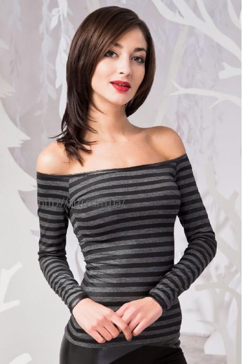 Блуза 48-00 серый