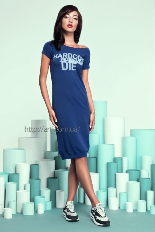 Платье 16-42 синее