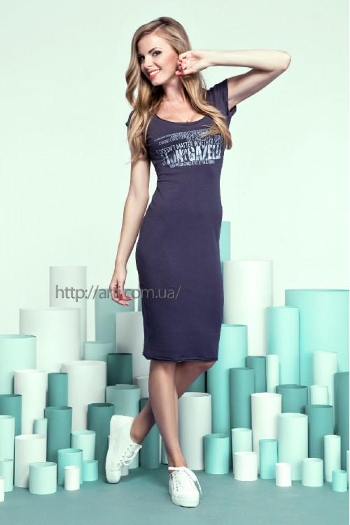 Платье 13-38 тёмно-серое