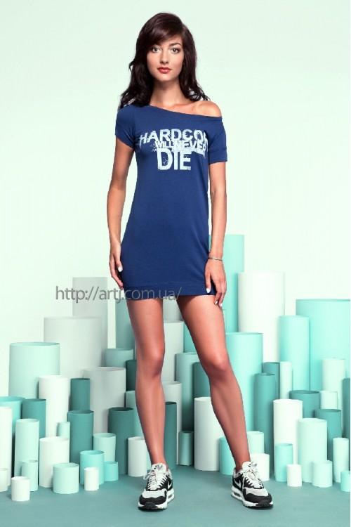 Платье 17-42 синее