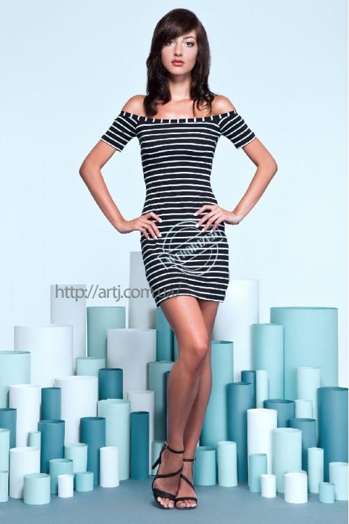 Платье 15-41 темно-синее