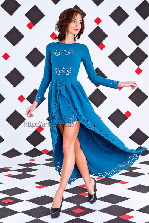 Платье 3253 морская волна