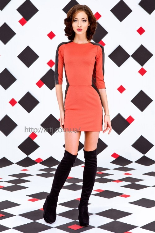 Платье 3015 апельсин