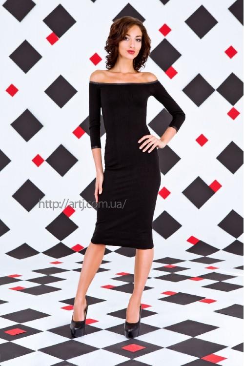 Платье 28-00 черный