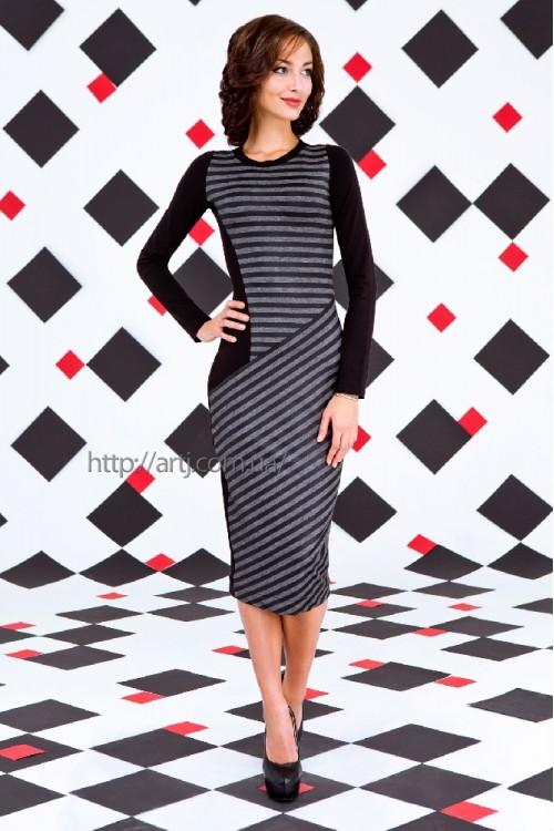 Платье 34-00 серый