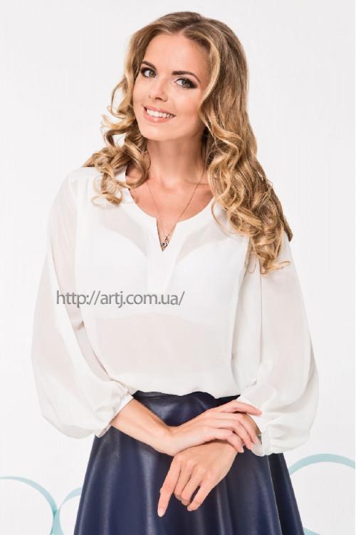 Блуза 2067 молоко