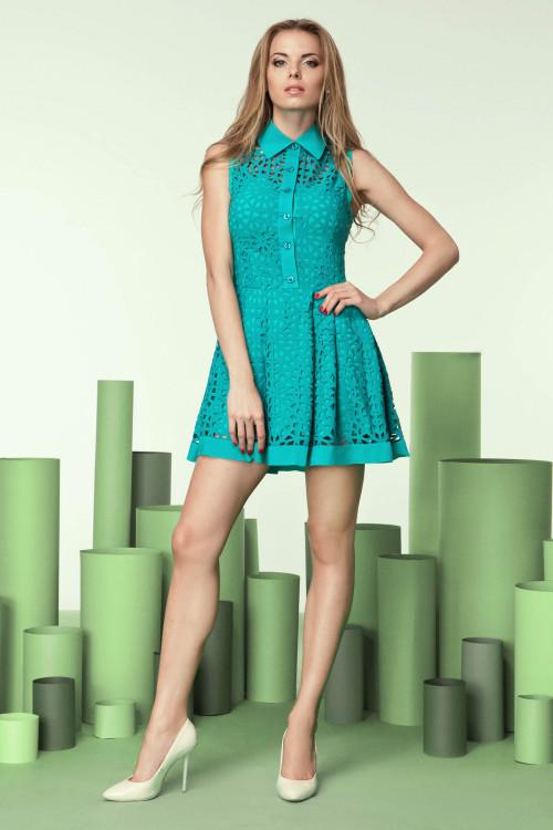 Платье 3203 бирюза