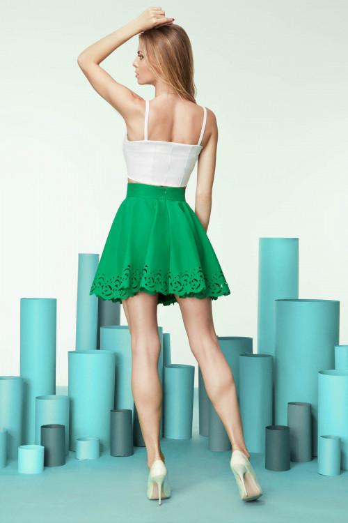 юбка 4020 зеленая зеленый