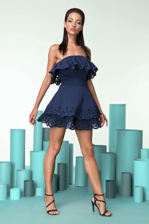 Платье 3249 темно-синее