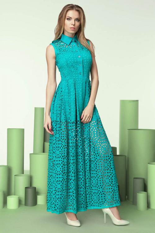 Платье 3202 бирюза