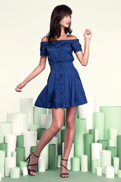 Платье 3208 синее