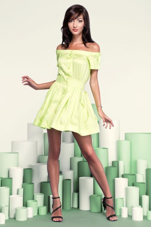 Платье 3208 лимонное