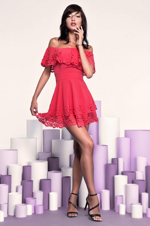 Платье 3249 коралл